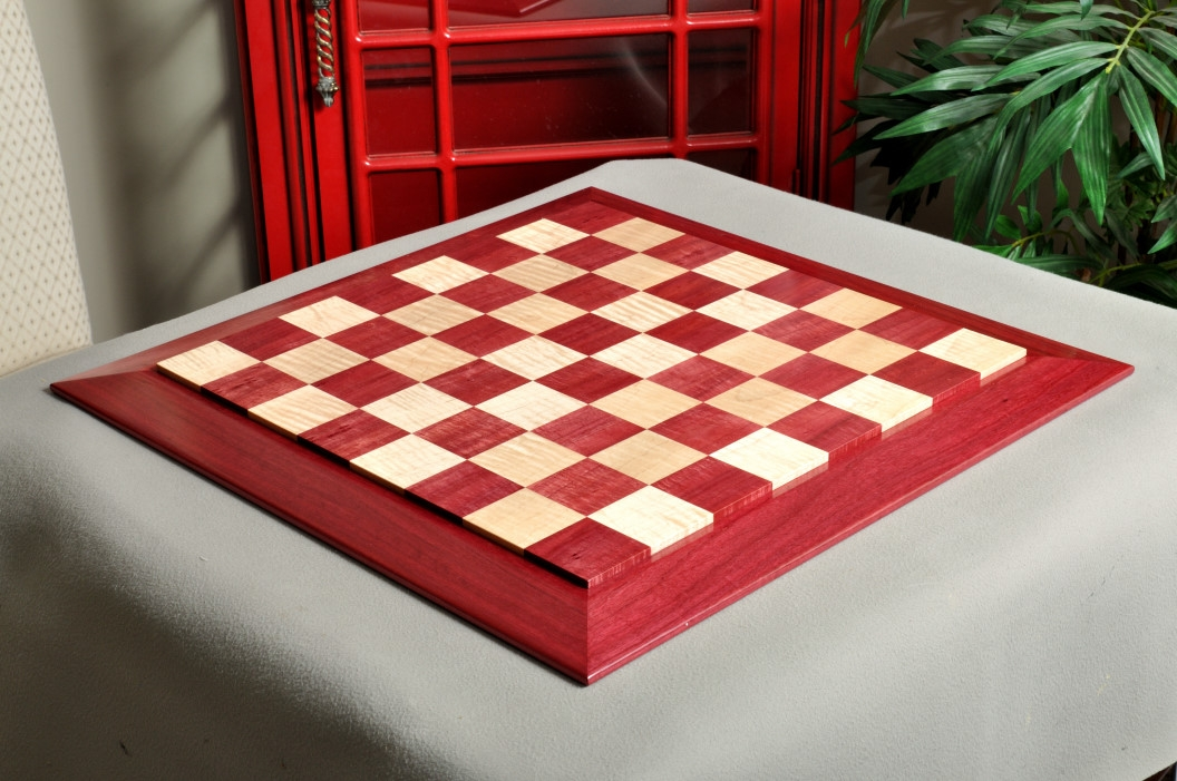 "MAPLE STRIPED EBONY Luxe Traditional Chess Board 2.5/"" Squares"