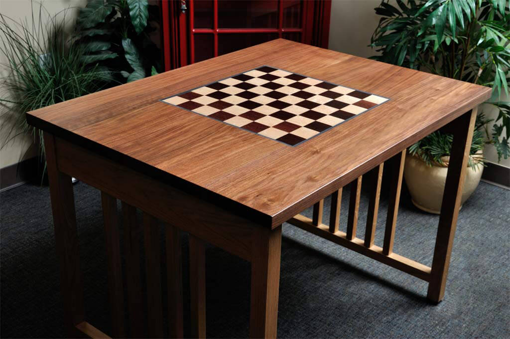Chess Table With Built In Board