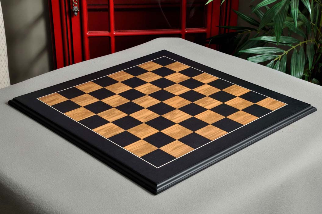 """S 2.375/"""" USCF Sales Blackwood and Olivewood Standard Traditional Chess Board"""