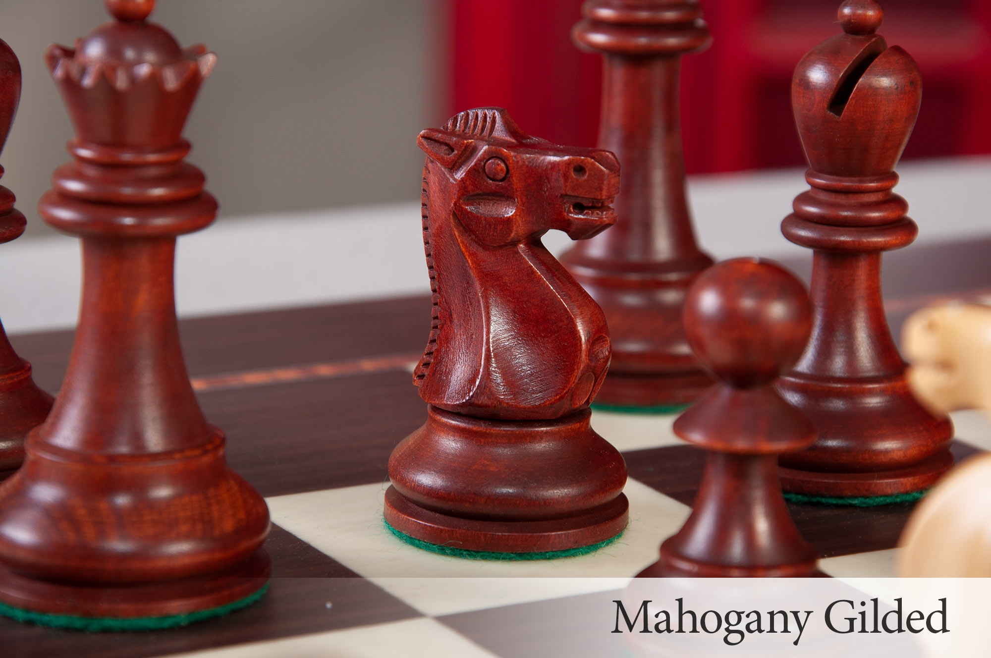 NO Logo The House of Staunton Premium Chess Box Mahogany