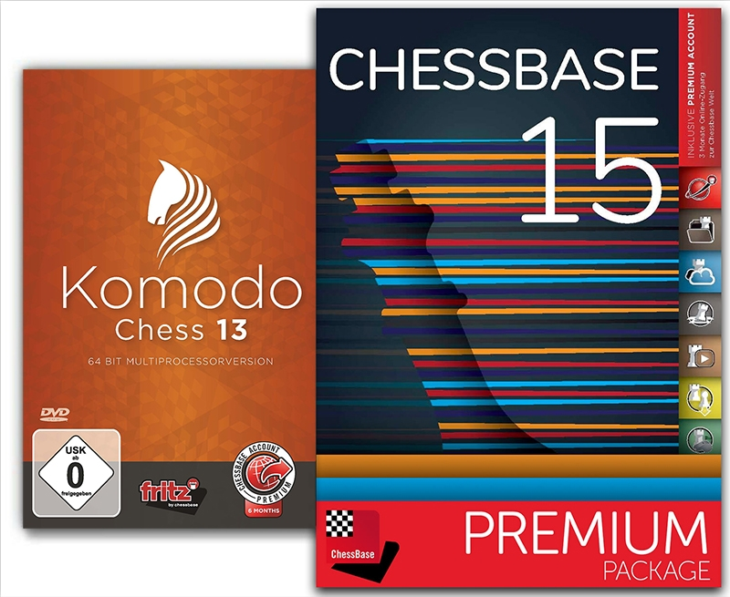 Details about USCF Sales Komodo 13 and CHESSBASE 15 Premium Bundle Chess