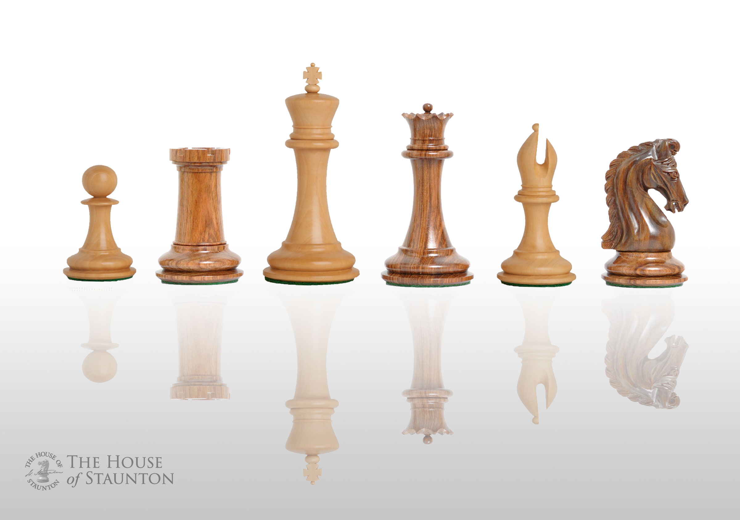The Imperial Collector Luxury Chess Set - Pieces Only - 4.0  King - Ironwood