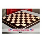 "Signature Contemporary II Chess Board - African Palisander/ Curly Maple - 2.5"" Squares"