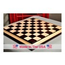 "Signature Contemporary III Luxury Chess board - AFRICAN PALISANDER / BIRD'S EYE MAPLE - 2.5"" Squares"