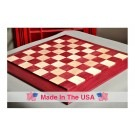 "Custom Contemporary Chess Board - Purpleheart / Curly Maple - 2.5"" Squares"