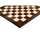 Walnut Burl & Maple Superior Traditional Chess Board - 2.5""