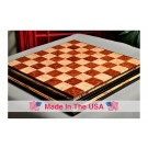 "Signature Contemporary Chess Board - RED AMBOYNA  / BIRD'S EYE MAPLE - 2.5"" Squares"