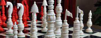 Bone Chess Pieces