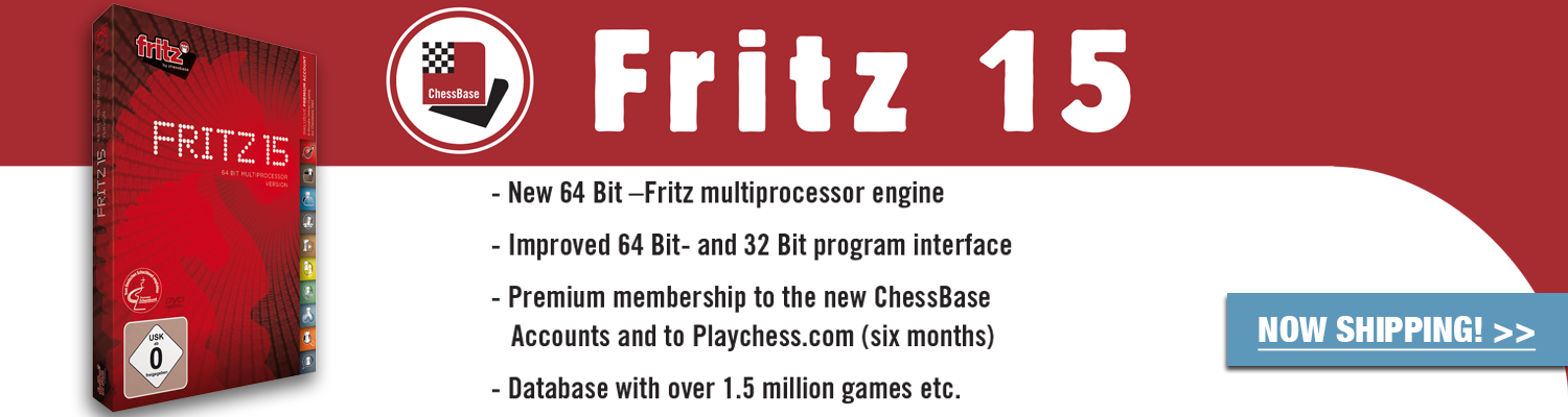Featuring a database with over 1.5 million games, order the NEW Fritz 15 today at The House of Staunton!